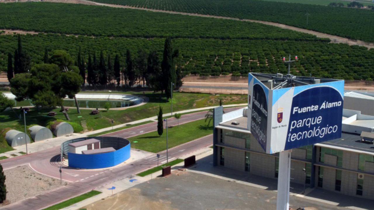 Fotografía aérea del Parque Tecnológico de Fuente Álamo